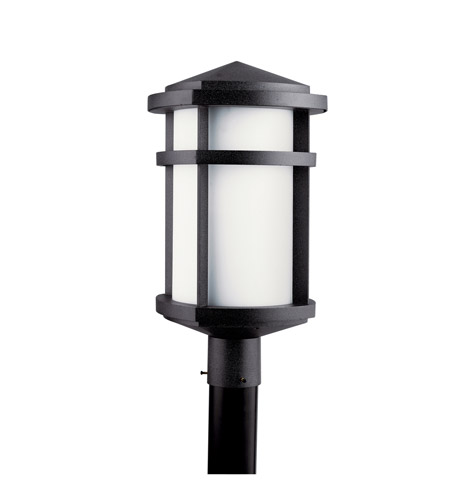 Kichler Lighting Lantana 1 Light Fluorescent Outdoor Post in Textured Granite 11070GNT