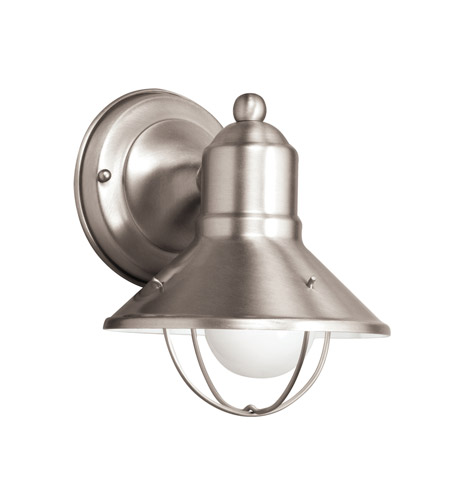 Kichler Lighting Signature 1 Light Fluorescent Outdoor Wall Lantern in Brushed Nickel 11094NI photo