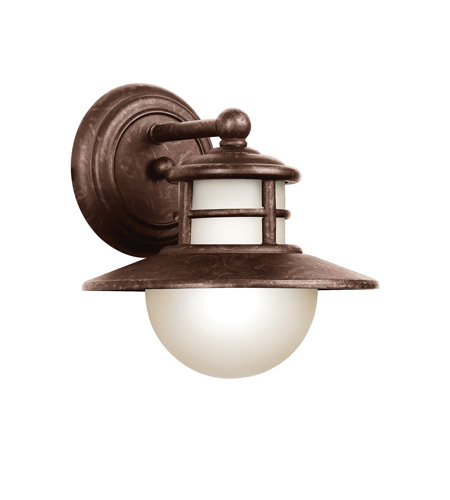 Kichler Lighting Menlo 1 Light Fluorescent Outdoor Wall Lantern in Aged Bronze 11106AGZ photo