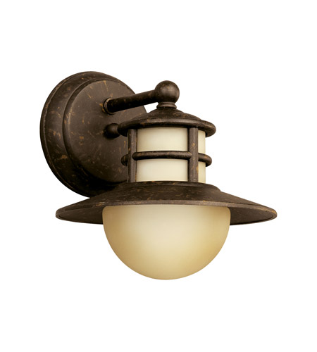Kichler Lighting Menlo 1 Light Fluorescent Outdoor Wall Lantern in Aged Bronze 11107AGZ photo