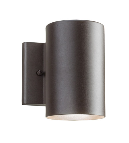 Kichler Lighting Signature LED Small Outdoor Wall Lantern in Textured Architectural Bronze 11250AZT