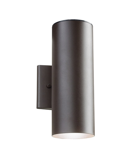 Kichler Lighting Signature LED Small Outdoor Wall Lantern in Textured Architectural Bronze 11251AZT photo