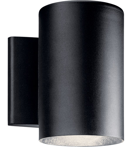Kichler 11309BKTLED Signature LED 7 inch Textured Black Outdoor Wall Light, Small photo