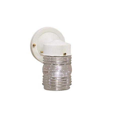 Kichler 1148WH Signature 1 Light 8 inch White Outdoor Wall Lantern photo