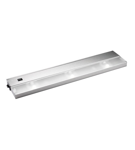 Kichler Lighting Modular 3Lt Xenon 120v/20w Cabinet Strip/Bar Light in Stainless Steel 12213SS