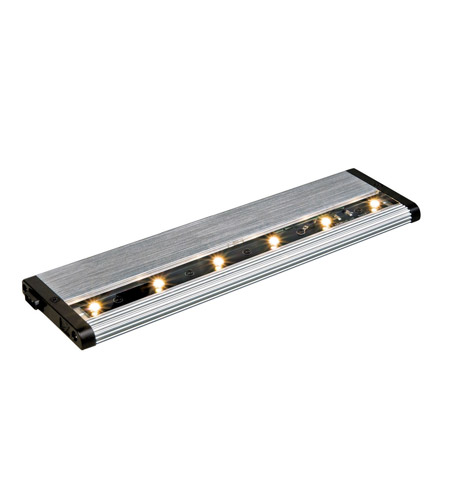 Kichler Lighting Design Pro LED Modular 12Inch Cabinet Strip/Bar Light in Brushed Nickel 12303NI