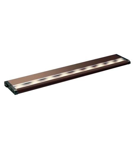 Kichler Lighting Design Pro LED Modular 18inch Cabinet Strip/Bar Light in Brushed Bronze 12305BRZ