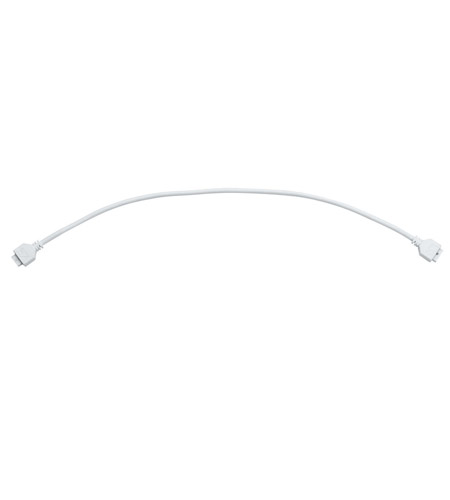 Kichler Lighting Interconnect Cable 21inch LED Cabinet Accessory in White Material 12343WH