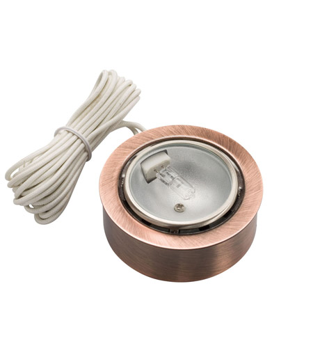 Kichler Lighting Puck Light 12v Xenon Cabinet Disc/Puck Light in Copper 12501CO photo