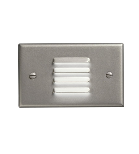 Kichler Lighting LED Step Light Horiz. Louver Cabinet Fixture-Misc Light in Brushed Nickel 12650NI
