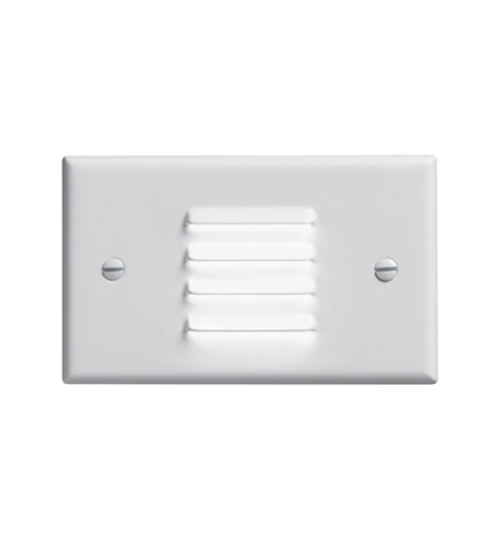 Kichler Lighting LED Step Light Horiz. Louver Cabinet Fixture-Misc Light in White 12650WH