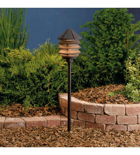 Kichler Lighting Six Groove 1 Light Landscape 12V Path & Spread in Textured Architectural Bronze (Head Only) 15005AZT photo