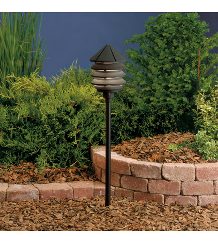 Kichler Lighting Six Groove 1 Light Landscape 12V Path & Spread in Textured Black 15005BKT