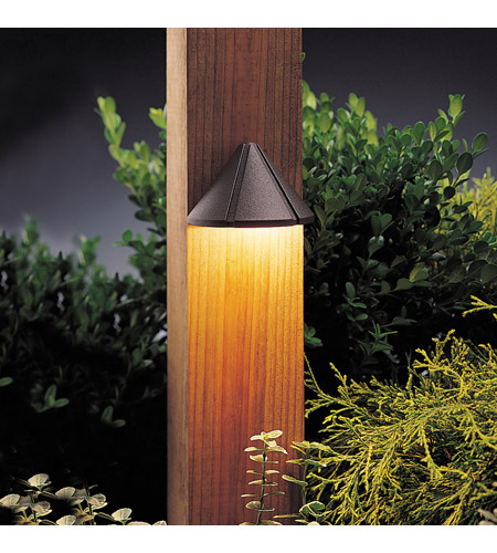 Kichler Lighting Six Groove 1 Light Landscape 12V Deck in Textured Architectural Bronze 15045AZT