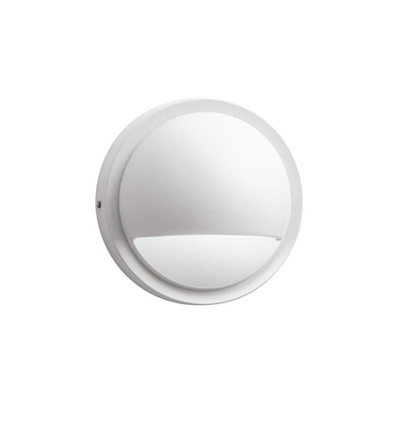Kichler 15064WHT Landscape 12V 12V 10 watt Textured White Deck Light, Half Moon, 2 inch photo