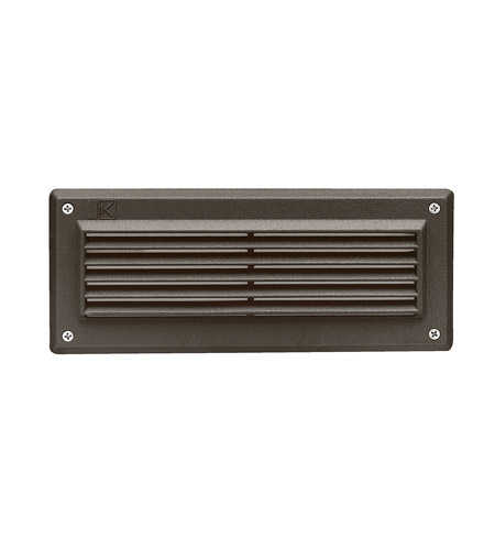 Kichler Lighting Outdoor Low Volt 2 Light Landscape 12V Deck in Textured Architectural Bronze 15073AZT