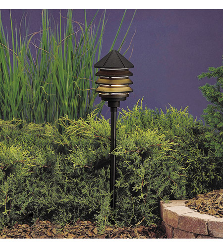 Kichler Lighting Six Groove 1 Light Landscape 120V Path & Spread (Head Only) in Textured Black 15205BKT