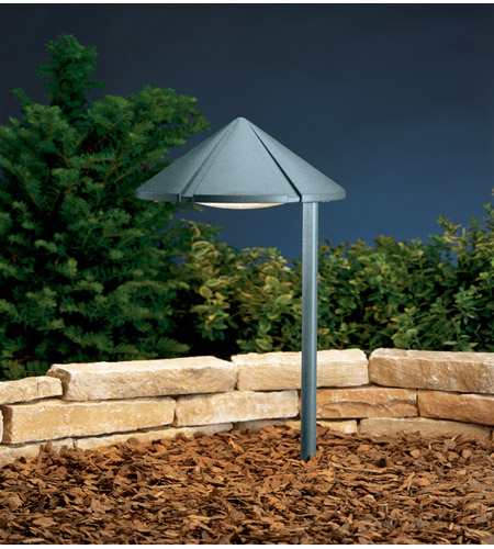Kichler Lighting Six Groove 1 Light Landscape 120V Path & Spread in Textured Midnight Spruce 15222MST photo