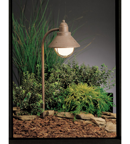 Kichler Lighting Seaside 1 Light Landscape 120V Path & Spread in Olde Brick 15239OB