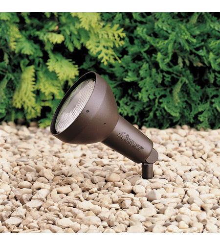 Kichler 15250AZT HID High Intensity Discharge 120V 100 watt Textured Architectural Bronze Landscape 120V Accent photo