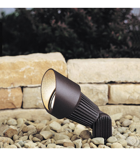 Kichler 15309AZT Landscape 12V 12V 35 watt Textured Architectural Bronze Landscape Accent Light in Single photo