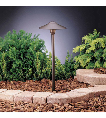 Kichler Lighting Outdoor Low Volt 1 Light Landscape 12V Path & Spread in Textured Architectural Bronze 15310AZT6 photo