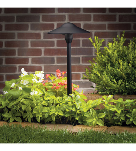 Kichler Lighting Outdoor Low Volt 1 Light Landscape 12V Path & Spread in Textured Black 15310BKT