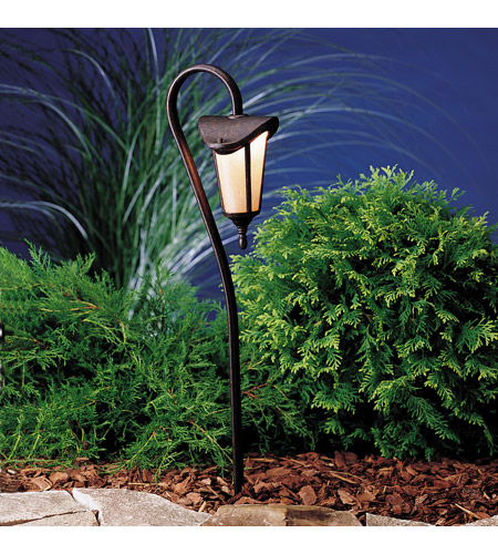 Kichler Lighting Lafayette 1 Light Landscape 12V Path & Spread in Tannery Bronze w/ Gold Accent 15313TZG photo