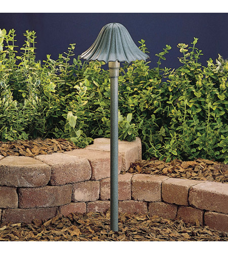 Kichler Lighting Outdoor Low Volt 1 Light Landscape 12V Path & Spread in Textured Midnight Spruce 15314MST