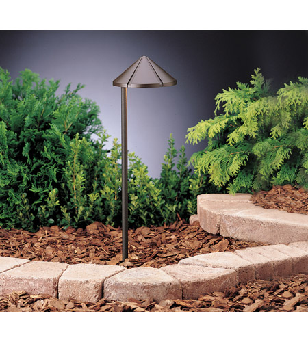 Kichler 15315AZT Six Groove 12V 24.4 watt Textured Architectural Bronze Landscape 12V Path & Spread in Single photo