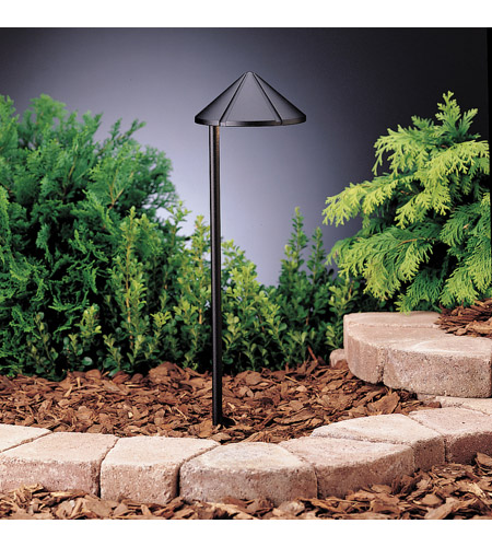 Kichler 15315BKT Six Groove 12V 24.4 watt Textured Black Landscape 12V Path & Spread in Single photo