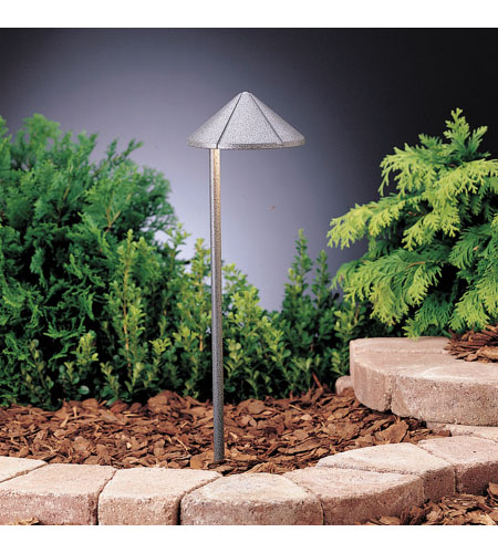 Kichler Lighting Six Groove 1 Lt Landscape 12V Path & Spread in Textured Midnight Spruce 15315MST photo