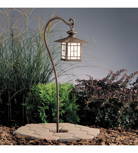 Kichler Lighting Mission 1 Light Landscape 12V Path & Spread in Patina Bronze 15319PZ photo