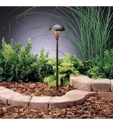 Kichler Lighting Eclipse 1 Light Landscape 12V Path & Spread in Textured Architectural Bronze 15323AZT