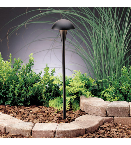 Kichler 15323BKT Eclipse 12V 24.4 watt Textured Black Landscape 12V Path & Spread photo