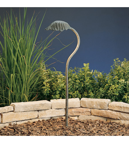 Kichler Lighting Leaf 1 Light Landscape 12V Path & Spread in Patina Bronze 15324PZ photo