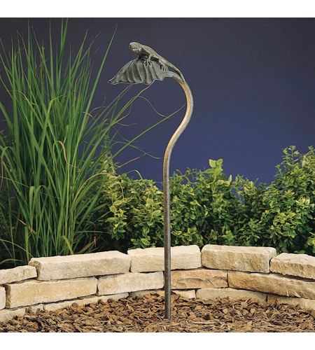Kichler Lighting Leaf 1 Light Landscape 12V Path & Spread in Patina Bronze 15325PZ