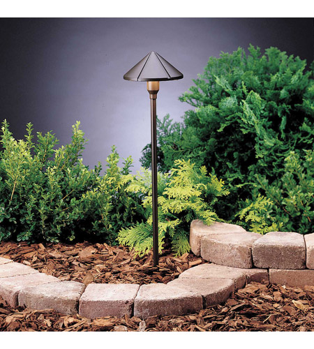 Kichler Lighting Six Groove 1 Light Landscape 12V Path & Spread in Textured Architectural Bronze 15326AZT6