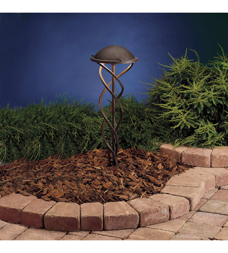 Kichler Lighting Outdoor Low Volt 1 Light Landscape 12V Path & Spread in Textured Tannery Bronze 15333TZT