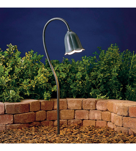 Kichler Lighting Tulip 1 Light Landscape 12V Path & Spread in Textured Midnight Spruce 15349MST photo