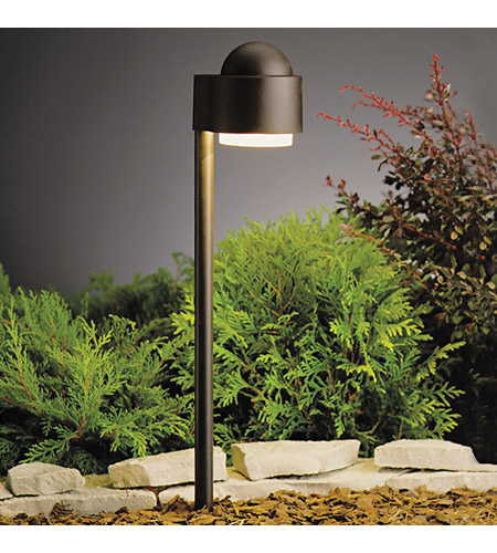 Kichler Lighting Outdoor Low Volt 1 Light Landscape 12V Path & Spread in Textured Architectural Bronze 15360AZT