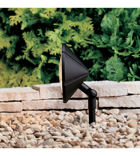 Kichler 15361BKT Six Groove 12V 24.4 watt Textured Black Landscape 12V Wall Wash photo