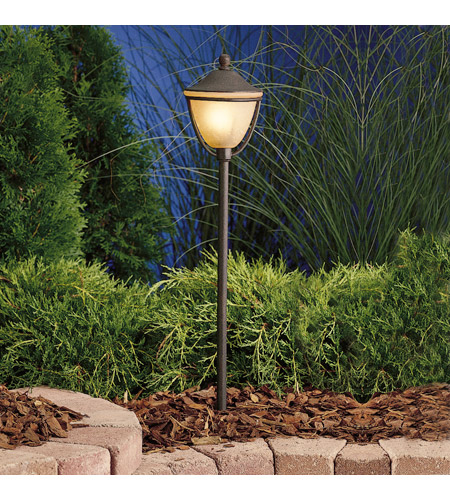 Kichler Lighting Outdoor Low Volt 1 Light Landscape 12V Path & Spread in Textured Tannery Bronze 15367TZT