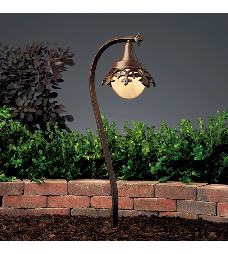 Kichler Lighting Vintage Park 1 Light Landscape 12V Path & Spread in Textured Tannery Bronze 15369TZT photo