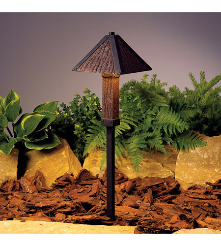 Kichler Lighting Oak Trail 1 Light Landscape 12V Path & Spread in Textured Black 15373BKT photo