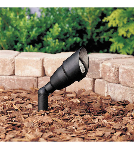 Kichler 15374BKT Landscape 12V 12V 50 watt Textured Black Landscape Accent Light in Bulb Not Included, Single photo