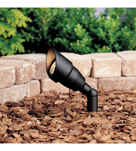 Kichler Lighting Accent 1-Lt 12V w/ Bulb Landscape 12V Accent in Textured Black 15374BKT20L24