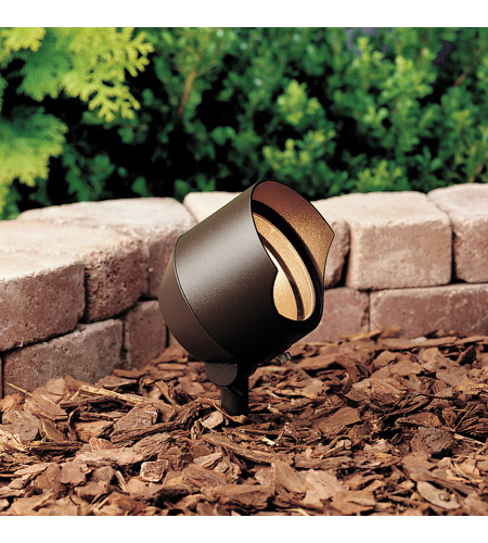 Kichler Lighting Accent 1-Lt 12V Landscape 12V Accent in Textured Architectural Bronze 15381AZT6