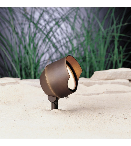 Kichler 15381BBR Cast Brass 12V 75 watt Bronzed Brass Landscape 12V Accent in Single photo