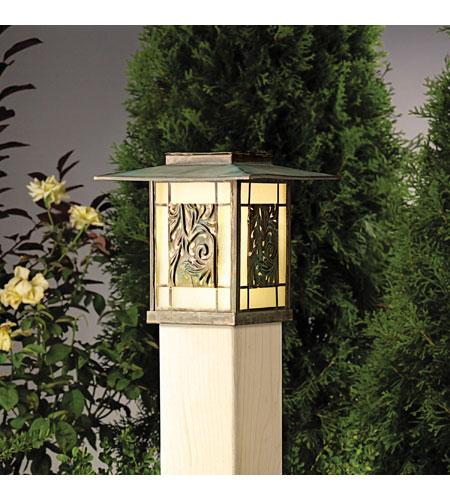Kichler Lighting Ainsley Square 1 Lt Landscape 12v Deck In Verdigris With Aged Br 15389vgb